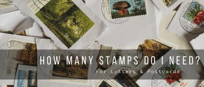 The number of stamps for a letter or postcard